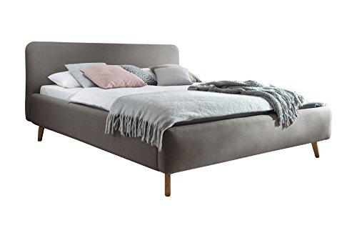 sette notti 180x200 cm Landhausstil Webstoff Taupe, Bett mit variabeler Einlasstiefe, Mattis Art Nr. 1454-10-5000