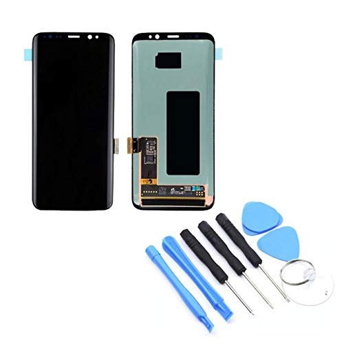 WEIWEITOE-DE LCD Display Touchscreen digitizer Assembly ohne Rahmen Handy ersatzteile für Samsung s8 g950f / g950avtp, schwarz, -
