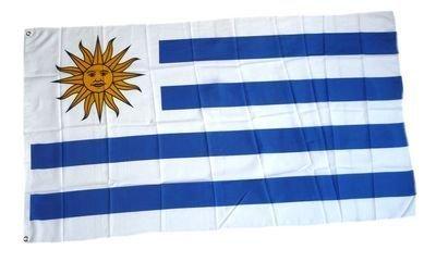 Flaggenking Uruguay Flagge/Fahne - wetterfest, mehrfarbig, 150 x 90 x 1 cm - Uruguay Wm
