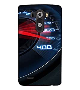 PrintHaat Designer Back Case Cover for LG G3 :: LG G3 Dual LTE :: LG G3 D855 D850 D851 D852 (I love racing :: speed :: fast and furious :: top gear :: speedometer going beyond limits :: in black, white and red)