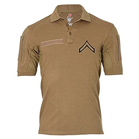 Tactical Poloshirt Alfa - Private First Class United States Marine Corps Dienstgrad USA #19044, Größe:5XL, Farbe:Khaki