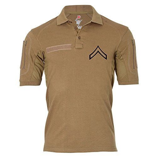 Tactical Poloshirt Alfa - Private First Class United States Marine Corps Dienstgrad USA #19044, Farbe:Khaki, Größe:Herren M (United States Marine Corps Shirts)