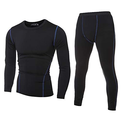 Yvelands Herren Bodybuilding-T-Shirt für Herren Schnell trocknende Oberteile Hosen(EU-50/XL,Schwarz)