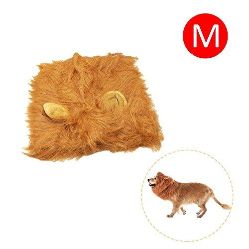 Favourall Hundelöwen-Mähne, Haustierperücke mit Schwanz, Hundekostüm, Löwenmähne für ()