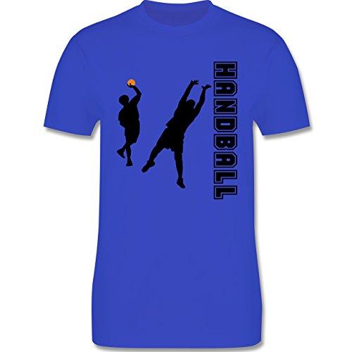 Handball - Handball Wurf Verteidigung - Herren Premium T-Shirt Royalblau