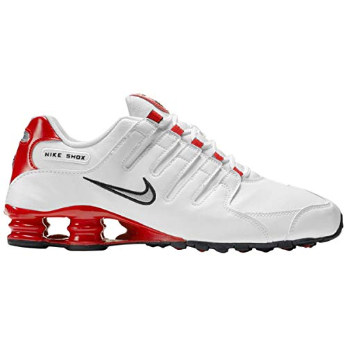Nike Shox NZ Mens - White Silver Red - 45 EU -
