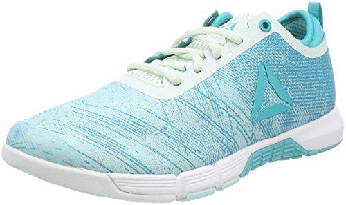 Reebok cn0994, scarpe da fitness donna, blu (blue lagoon/solid teal/opal/white/silver 000), 42.5 eu