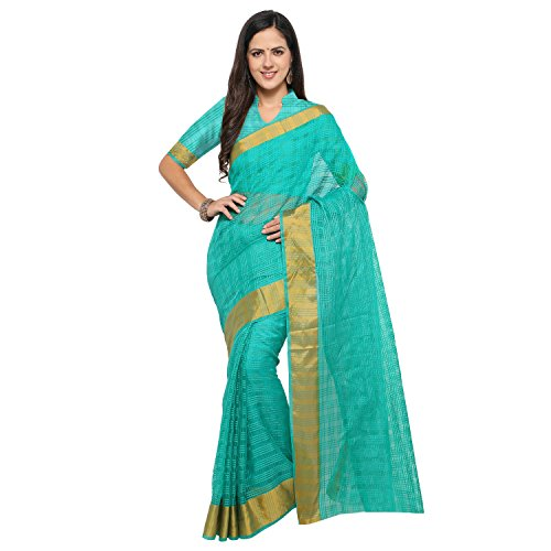 sarvagny clothing art silk light green color daily wear party wear saree...