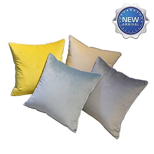 Lichao classica e alla moda, massiccio europeo elegante copertura del cuscino super set morbido francese velluto cuscino set dimensioni 45*45cm per camera da letto e soggiorno 4pezzi