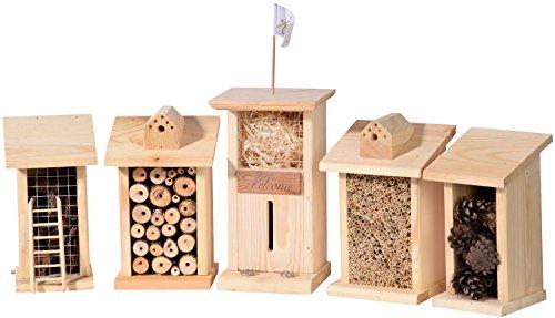 Luxus-Insektenhotels 99722e Komplette Insektenhotel-Stadt mit 5 Häusern (Gebäude Weiße Haus)