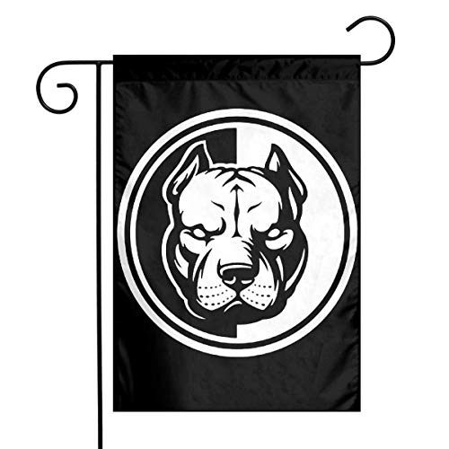 0 Pit Bull Black and White Logo Garden Flag House Banner for Party Yard Home Outdoor Decor (White House Logo)