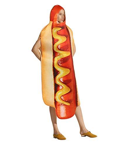 Kostüm Lustige Hot Dog Kind - zhbotaolang Halloween Kostüm Karneval Festliche Kleid - Hot Dog Lustige Leistung Leotards Set Dancing Outfit Unisex Kinder Erwachsene Jumpsuits Erwachsene