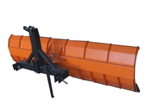 Schneeschild / 2500 x 570 mm / zB. Für Traktor Bulldog / Mechanisch nach links und rechts schwenkbar / Inklusive: Gerätedreieck Kat 1 + Beidseitig verwendbare Gummischürfleiste mit Gewebeeinlage / Schneeschieber