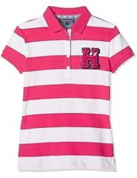 Tommy Hilfiger Ame Girls Stripe S/S, Polo para Niños