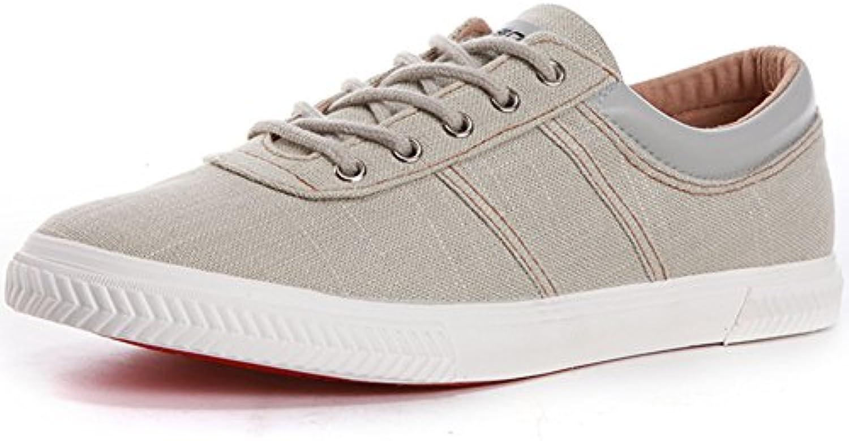 YIXINY Schuhe 7585 Fruumlhling Und Herbst Neue Atmungsaktive Und Bequeme Mode Lässige Herrenschuhe ( Farbe : Grau