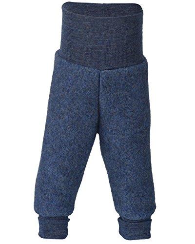 Blau Wolle Hosen (Engel Baby-Fleece Hose mit Nabelbund blau melange - 50/56)