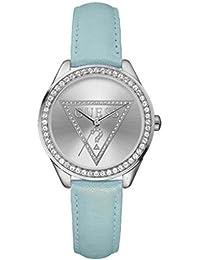 Guess W65010L2 - Reloj para mujeres, correa de cuero color azul
