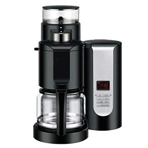 LJHA kafeiji Amerikanische Kaffeemaschine, Pumpe Kaffeemaschine, vollautomatische Kaffeemaschine, Bohnenpulver, Dual-Use 295mm × 284mm × 404mm schwarz (Farbe : SCHWARZ)