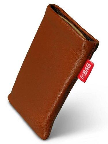 fitBAG Beat Cognac Handytasche Tasche aus Echtleder Nappa mit Microfaserinnenfutter für Sony Ericsson W580 W580i W580 Crystal