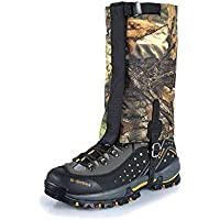 XIAXIACP Leg Gaiters, Skiing Gaiters Polyester Waterproof Windproof Warm Shoes Cover Durable Easy Cleaning for Mountain Hiking, Walking, Climbing, Hunting