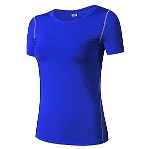 Penggeng Damen T-Shirt Sport Shirt Atmungsaktiv Base Funktionsshirt Laufen Fitness Gym