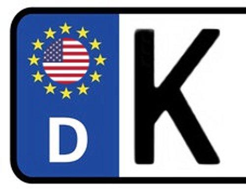 2x Kennzeichen Aufkleber USA Nummernschild Sticker (ca.2 cm)