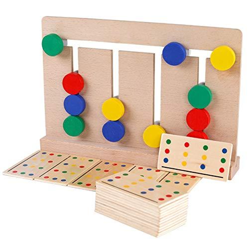 El juego de madera de cuatro colores Montessori de iluminación ayuda a...