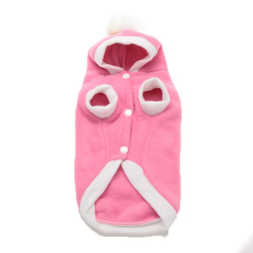 Urparcel Pet Dog Winter Warm Fleece Hoody Coats Angel Wing Hoodie Costume Pink M