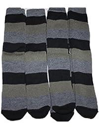4 pairs mens mixed grey ski socks