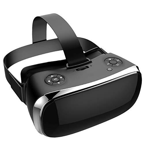 3D VR Headset Virtuell Wirklichkeit Brille, 360 ° Virtual Reality Brille Videospiele, 3D Filme Videospiele Komfortable VR-Brille Mit Stereo-Kopfhörer Kompatibel Mit Android,Black