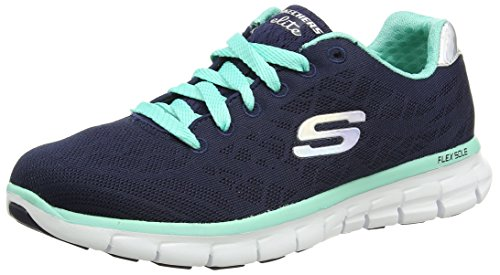 Skechers (SKEES) - Synergy-Moonlight Madness, Scarpa Tecnica da donna, blu (nvaq), 37