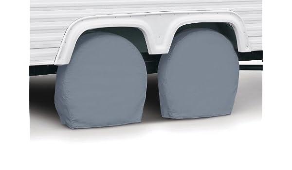 Classic Accessories 80-083-151001-00 RV Wheel Cover 26.75-29 Wheel Diameter Pair Grey