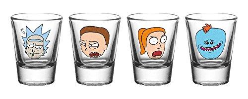 Vasos de chupito de Rick y Morty con caras, varios diseños, de GB Eye