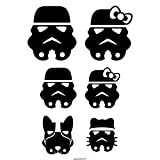 Autodomy Pegatinas Familia Star Wars Tropper Pack 6 Unidades para Coche (Negro)