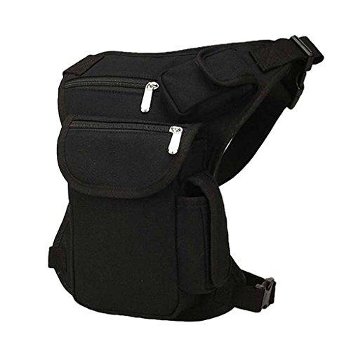 Damen Herren Outdoor Hüfttasche Beintasche Gürteltasche Messenger Bag Sport Beinbeutel Für Sport Reisen Klettern Radfahren Outdoor-Aktivitäten - Schwarz