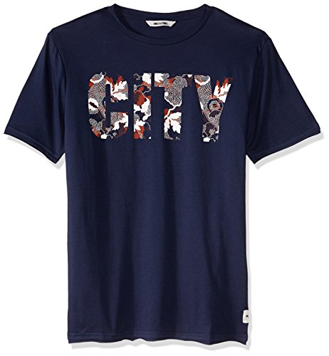 ONLY & SONS - Herren printed t-shirt net fitted tee Blue