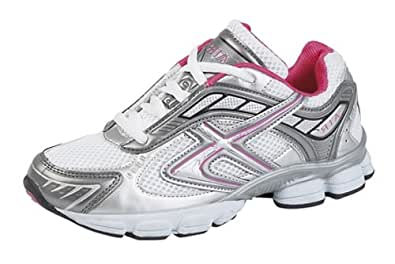 Dek 'Lady Air' shock absorbing running trainers White/Fuchsia/Grey size 3 UK