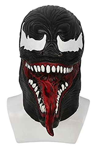 Xcoser Cosplay Costume Black & Red Latex Capuche Masque Halloween