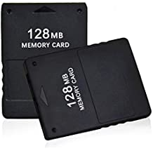 2 Pack of TPFOON 128MB High Speed Game Memory Card for Sony Playstation 2 PS2