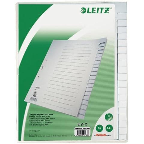 Leitz 12203085 - Juego de hojas para agenda telefónica (A4, 20 hojas), color gris