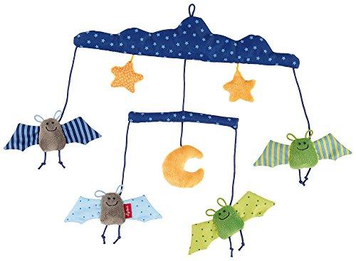 Preisvergleich Produktbild sigikid, Mädchen und Jungen, Mobile mit Fledermäusen, Baby bite me, Blau/Grün/Gelb, 41015