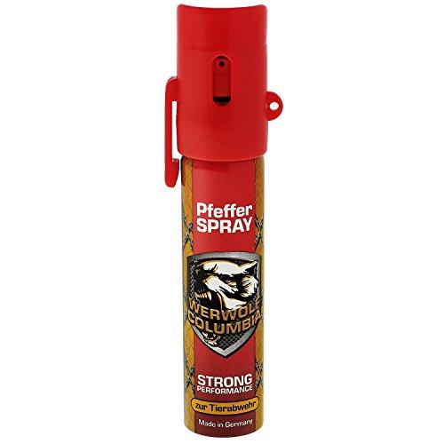 Werwolf Columbia Pfefferspray hochdosiertes Verteidigungsspray Made in Germany - Spray zur Selbstverteidigung bei Tierattacken (Sicherheit Pfeffer-spray)