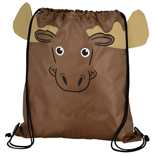 Children's Animal Sport Pack Sportspack Backpack Tote Bag w/ 3-Dimensional Features (Moose)