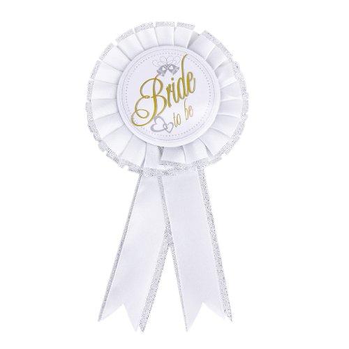 Baoblaze Braut Rosette Abzeichen Brosche Pin für Henne Nacht Bachelorette Party und Verlobung
