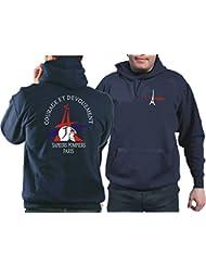 Sweatshirt à capuche sapeurs pompiers paris devouement et courage
