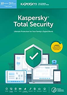 Kaspersky Total Security 2019 | 10 Devices | 1 Year | PC/Mac/Android | Online Code (B07H6X2YNY) | Amazon price tracker / tracking, Amazon price history charts, Amazon price watches, Amazon price drop alerts