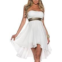 Mujeres De Tarde Irregulares Encaje Corto Vestidos Con Hombros Descubiertos