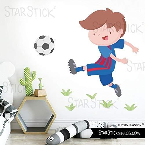 Niño jugador de fútbol. Barça - Vinilos infantiles - T1 - Pequeño