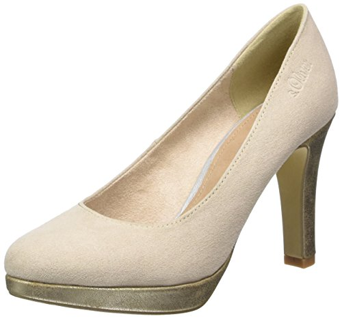 s.Oliver 22400, Scarpe con Plateau Donna Beige (IVORY COMB. 439)