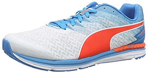 Puma Speed 300 IGNITE, Unisex Adults Running Shoes, Multicolor (White/Atomic Blue/Red Blast), 9 UK (43 EU)